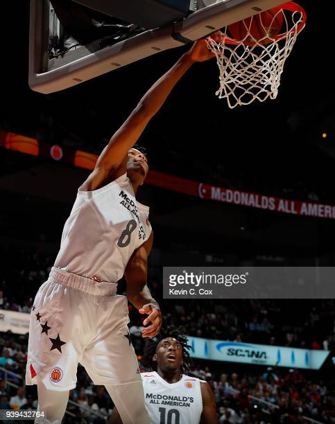 Cameron Reddish of Westtown School dunks during the 2018 McDonald's All American Game at Philips Arena on March 28 2018 in Atlanta Georgia