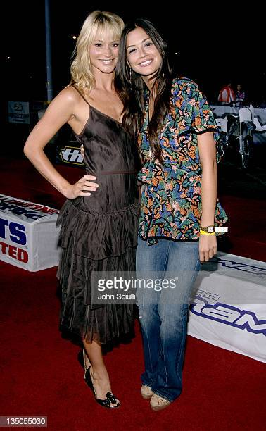 Cameron Richardson and Carolina Garcia during 'Supercross' Los Angeles Premiere Red Carpet at Veterans Administration Complex in Westwood California...