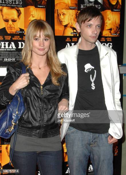 Cameron Richardson and DJ Qualls during Alpha Dog Los Angeles Premiere Arrivals at ArcLight Cinemas in Hollywood California United States