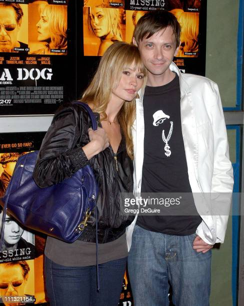Cameron Richardson and DJ Qualls during Alpha Dog Los Angeles Premiere Arrivals at ArcLight Theatre in Hollywood California United States