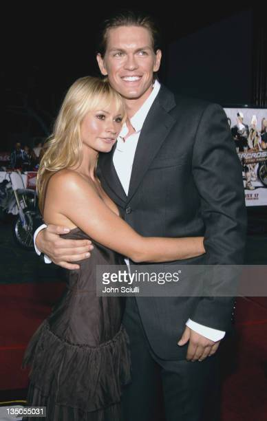 Cameron Richardson and Steve Howey during 'Supercross' Los Angeles Premiere Red Carpet at Veterans Administration Complex in Westwood California...