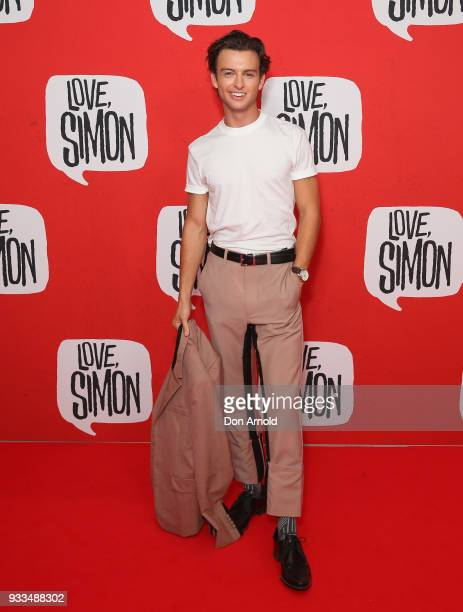 Cameron Robbie attends the Love Simon Australian Premiere on March 18 2018 in Sydney Australia