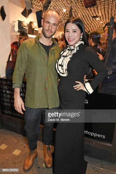 Cameron Saul and Wendy Yu attend the opening of the BOTTLETOP flagship store on Regent Street on December 5 2017 in London England