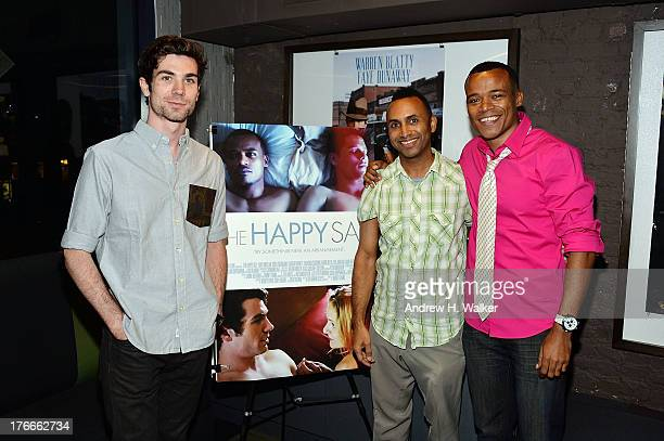 Cameron Scoggins Rodney Evans and Leroy McClain attend the QA and screening of The Happy Sad at the IFC Center on August 16 2013 in New York City