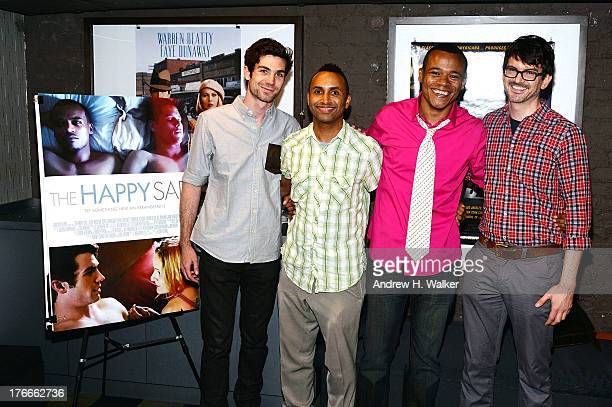 Cameron Scoggins Rodney Evans Leroy McClain and Ken Urban attend the QA and screening of The Happy Sad at the IFC Center on August 16 2013 in New...