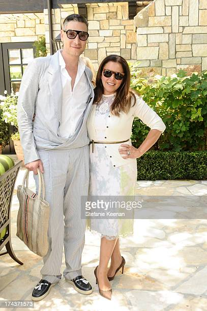 Cameron Silver and Deborah Waknin attend Lorena Sarbu Resort 2014 Luncheon at on July 24 2013 in Beverly Hills California