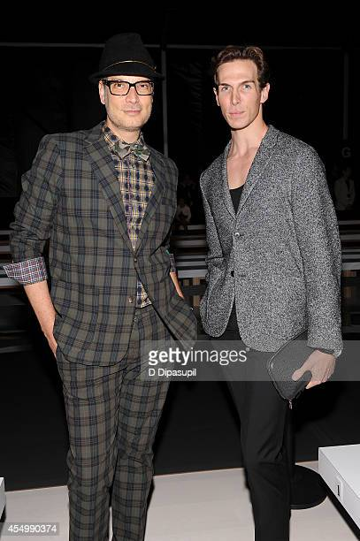 Cameron Silver and Evan McKie attend the Reem Acra fashion show during MercedesBenz Fashion Week Spring 2015 at The Salon at Lincoln Center on...
