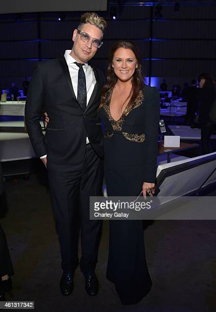 Cameron Silver and founder of The Art of Elysium Jennifer Howell attend the 8th Annual HEAVEN Gala presented by Art of Elysium and Samsung Galaxy at...