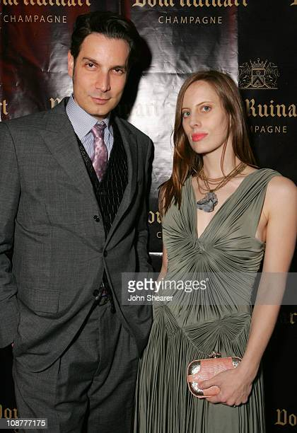 Cameron Silver and Liz Goldwyn during Launch Party For Dom Ruinart 1996 at Private Estate in Bel Air California United States
