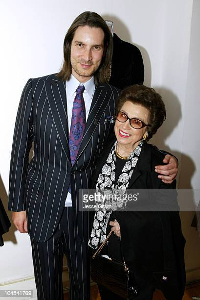 Cameron Silver and Nancy Sinatra Sr during Decades Presents Triple 3x Threat at Decades Inc in Los Angeles California United States