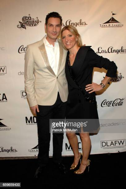 Cameron Silver and Petra Flannery attend Downtown Los Angeles Fashion Week 'An Evening of 20th Century Glamour' at The Geffen Contemporary at MOCA on...