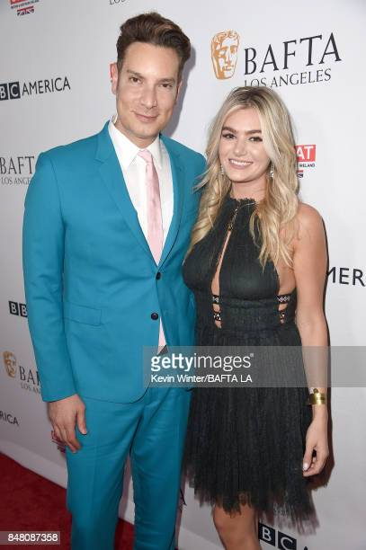 Cameron Silver and Sloane Glass attend the BBC America BAFTA Los Angeles TV Tea Party 2017 at The Beverly Hilton Hotel on September 16 2017 in...