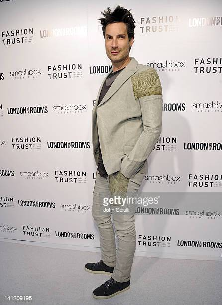 Cameron Silver attends the British Fashion Council's LONDON Show ROOMS LA opening cocktail party at Smashbox Studios on March 12 2012 in West...