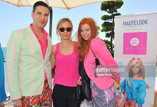 Cameron Silver Radha Mitchell and Odessa Rae attend the HauteLook luncheon celebrating Malibu Barbie By Trina Turk at Nobu Malibu on June 14 2013 in...