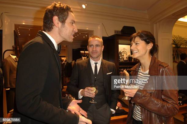 Cameron Silver Thom Browne and Lauren Howel attend Brooks Brothers celebrates the publication of Assouline's 'American Fashion Menwear' by Robert F...