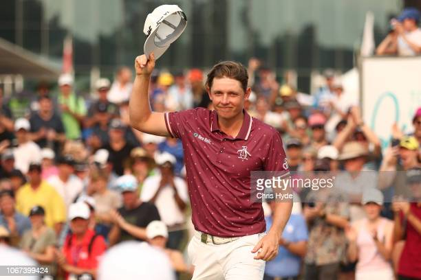 Cameron Smith celebrates winning on day four of the 2018 Australian PGA Championship at Royal Pines Resort on December 2 2018 in Gold Coast Australia