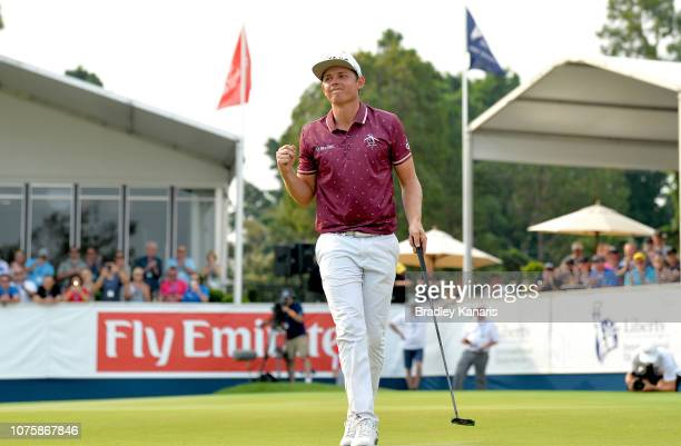 Cameron Smith celebrates winning the Kirkwood Cup during day four of the 2018 Australian PGA Championship at Royal Pines Resort on December 02 2018...