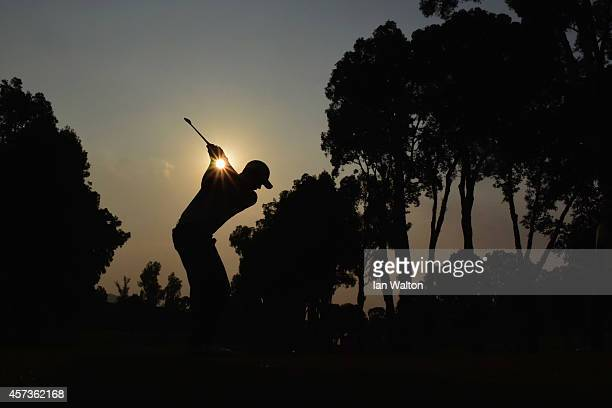 Cameron Smith of Australia in action during the 2nd round of the 2014 Hong Kong open at The Hong Kong Golf Club at The Hong Kong Golf Club on October...