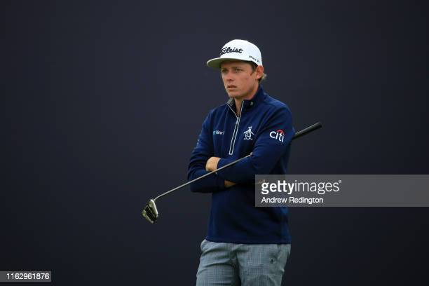 Cameron Smith of Australia looks on the 18th hole during the second round of the 148th Open Championship held on the Dunluce Links at Royal Portrush...