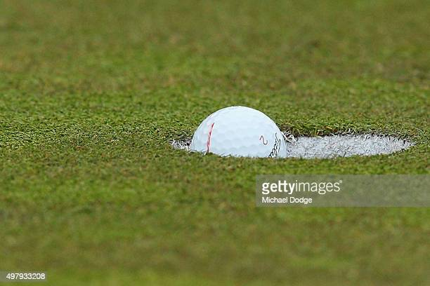 Cameron Smith of Australia makes a putt during day two of the 2015 Australian Masters at Huntingdale Golf Club on November 20, 2015 in Melbourne,...