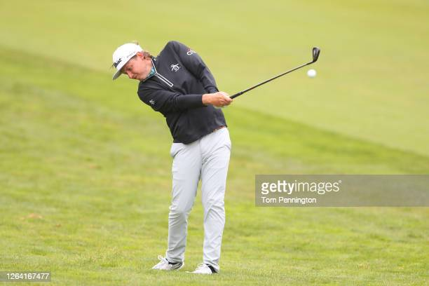 Cameron Smith of Australia plays a shot during a practice round prior to the 2020 PGA Championship at TPC Harding Park on August 05 2020 in San...