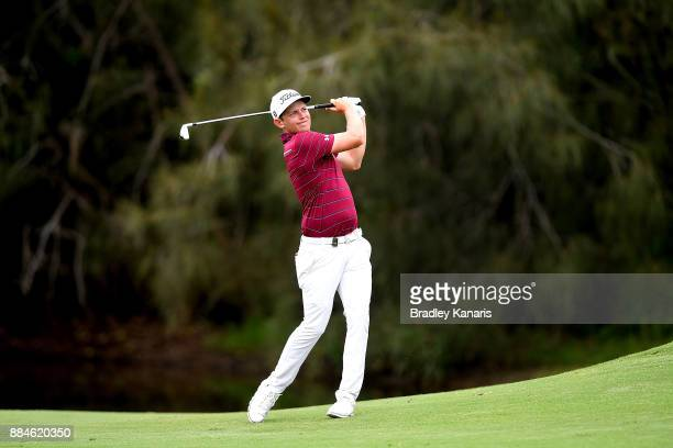 Cameron Smith of Australia plays a shot on the 15th hole during day four of the 2017 Australian PGA Championship at Royal Pines Resort on December 3...