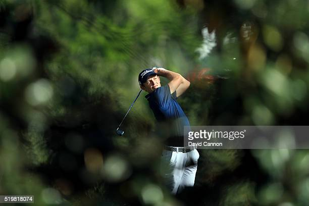 Cameron Smith of Australia plays a shot on the fifth hole during the second round of the 2016 Masters Tournament at Augusta National Golf Club on...