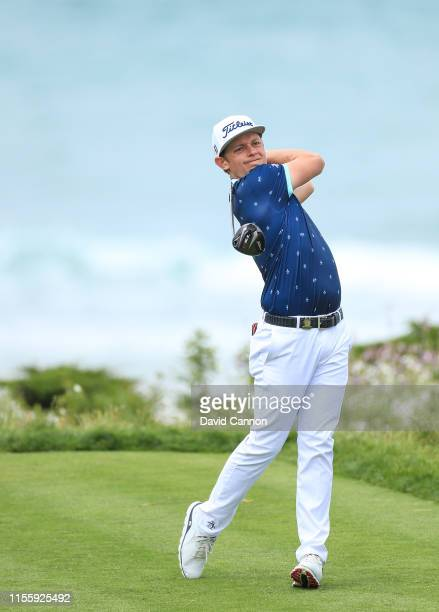 Cameron Smith of Australia plays his fee shot on the par 4 11th hole during the first round of the 2019 USOpen at the Pebble Beach Golf Links on June...