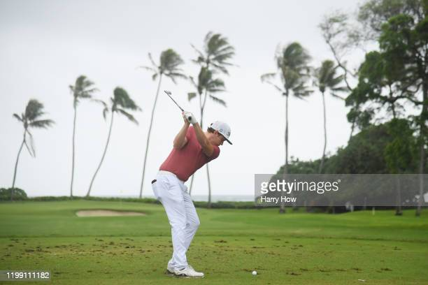 Cameron Smith of Australia plays his shot from the 11th tee during the final round of the Sony Open in Hawaii at the Waialae Country Club on January...