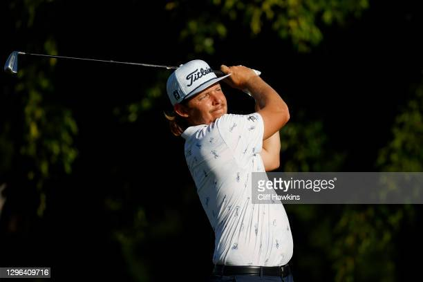 Cameron Smith of Australia plays his shot from the 15th tee during the first round of the Sony Open in Hawaii at the Waialae Country Club on January...