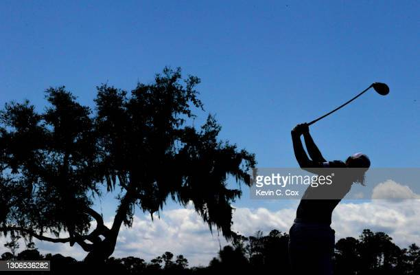 Cameron Smith of Australia plays his shot from the 16th tee during the first round of THE PLAYERS Championship on THE PLAYERS Stadium Course at TPC...