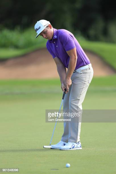 Cameron Smith of Australia putts on the fourth green during the first round of the Sentry Tournament of Champions at Plantation Course at Kapalua...