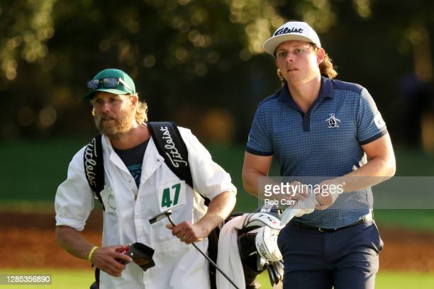 Cameron Smith of Australia walks to the 18th green during the first round of the Masters at Augusta National Golf Club on November 12, 2020 in...