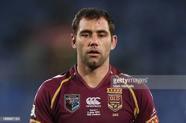 Cameron Smith of the Maroons looks on during game one of the ARL State of Origin series between the New South Wales Blues and the Queensland Maroons...