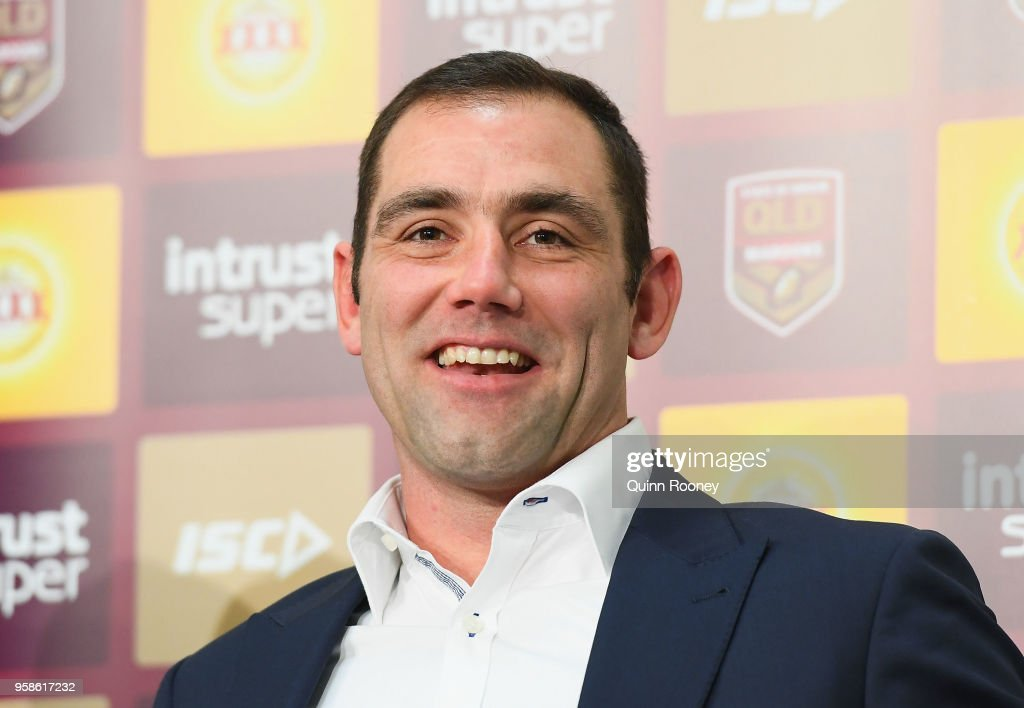 Cameron Smith of the Maroons speaks to the media during a press conference at AAMI Park on May 15, 2018 in Melbourne, Australia.