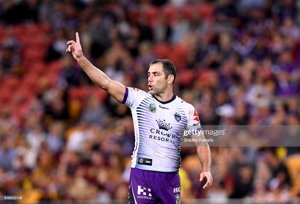 NRL Rd 7 - Broncos v Storm : News Photo