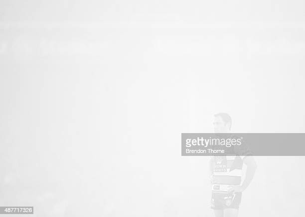 Cameron Smith of the Storm looks on during the NRL qualifying final match between the Sydney Roosters and the Melbourne Storm at Allianz Stadium on...