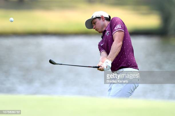 Cameron Smith plays a shot during day four of the 2018 Australian PGA Championship at Royal Pines Resort on December 02 2018 in Gold Coast Australia