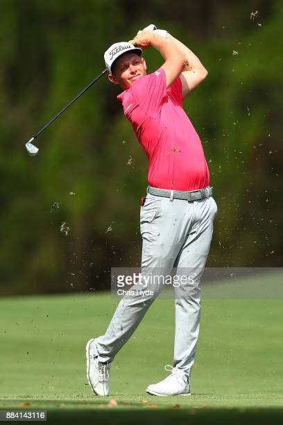 Cameron Smith plays a shot during day three of the 2017 Australian PGA Championship at Royal Pines Resort on December 2 2017 in Gold Coast Australia