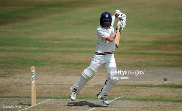 Cameron Steel of Durham bats during Day Two of the Specsavers County Championship Division Two match between Gloucestershire and Durham at The...