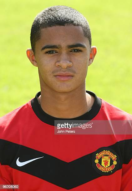 Cameron Stewart of Manchester United's Reserves Team poses during a photocall at Carrington Training Ground on September 11 2009 in Manchester England