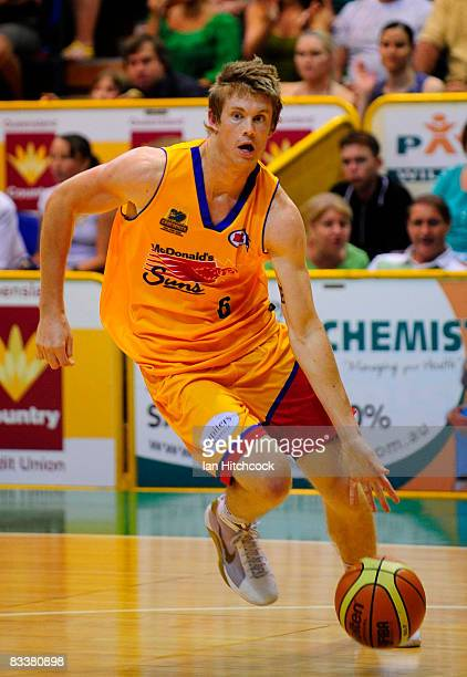 Cameron Tovey of the Crocs in action during the round six NBL match between the Townsville Crocodiles and the Sydney Spirit at the Townsville...