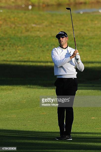 Cameron Tringale hits a shot during the first round of the Valspar Championsihp at Innisbrook Resort and Golf Club on March 13 2014 in Palm Harbor...