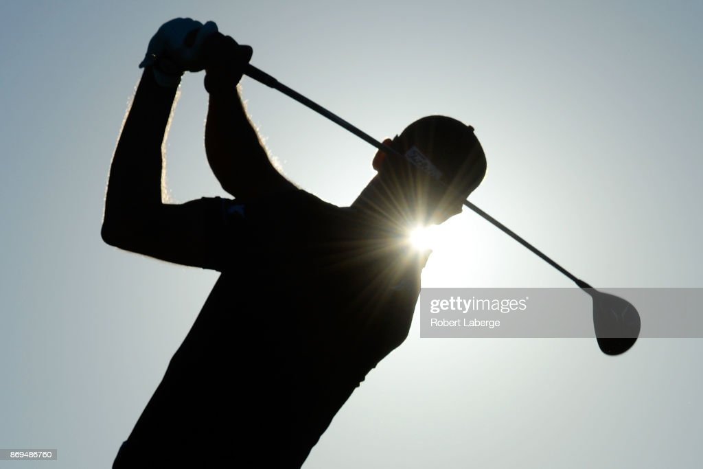 Cameron Tringale hits his tee shot on the fourth hole during the first round of the Shriners Hospitals For Children Open at TPC Summerlin on November 2, 2017 in Las Vegas, Nevada.