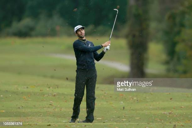 Cameron Tringale plays his shot on the 17th hole during Sanderson Farms Championship Round One on October 25 2018 in Jackson Mississippi