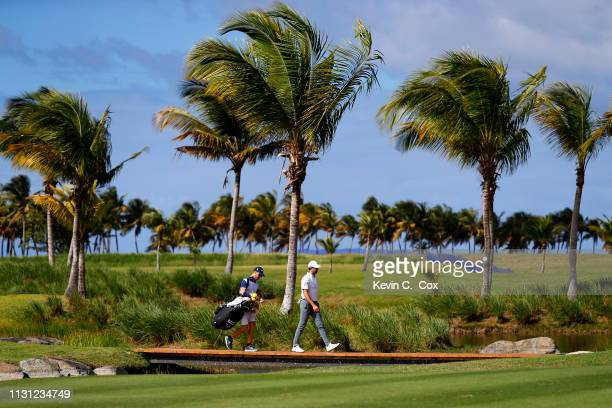 Cameron Tringale walks the 13th hole during the first round of the Puerto Rico Open at Coco Beach Golf and Country Club on February 21 2019 in Rio...