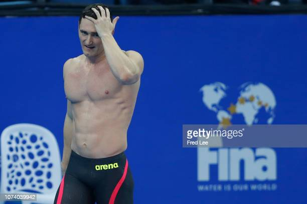 Cameron van der Burgh of South Africa competes in the Men's 50m Breaststroke Final during the 14th FINA World Swimming Championships Day 6 on...