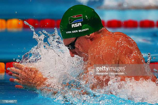 Cameron Van Der Burgh of South Africa competes in the Swimming Men's 50m Breaststroke Semifinal on day eleven of the 15th FINA World Championships at...
