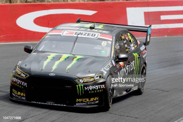 Cameron Waters / David Russell in the Monster Energy Racing Ford Falcon head down the mountain at the Supercheap Auto Bathurst 1000 V8 Supercar Race...