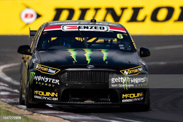Cameron Waters / David Russell in the Monster Energy Racing Ford Falcon through the final corner at the Supercheap Auto Bathurst 1000 V8 Supercar...